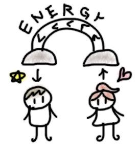 エネルギーを奪われる女性